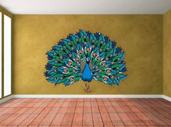 peacock wall stickers