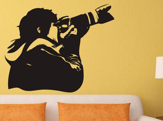 photography wall stickers