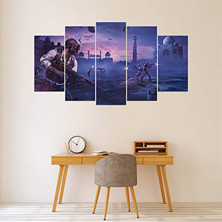pubg indian map cut pieces wall stickers