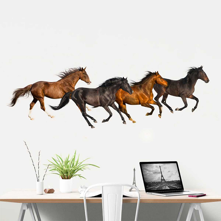 rawpockets the horse family' wall stickers