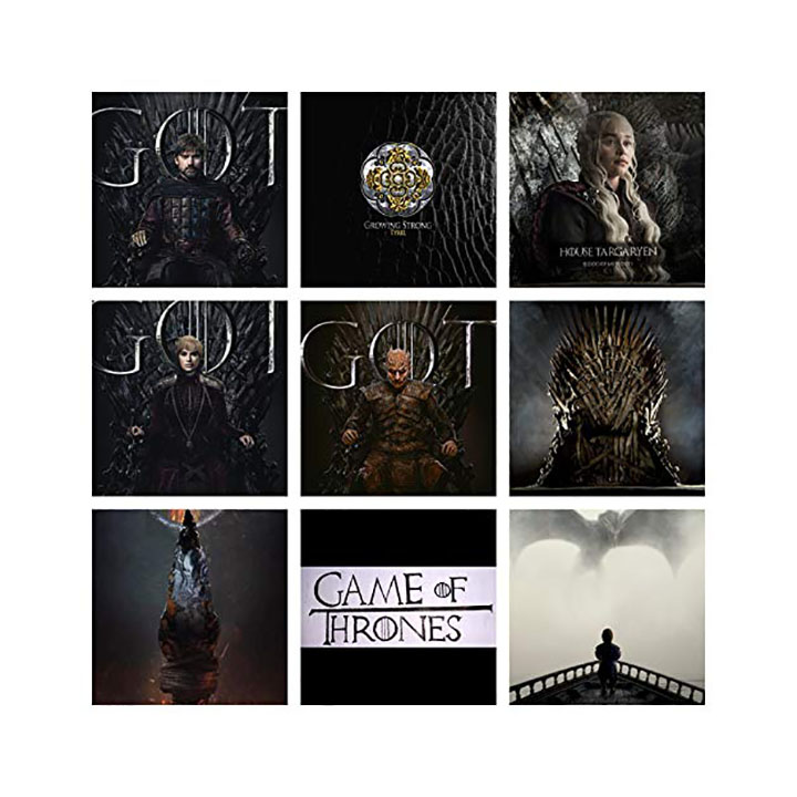 set of 9 - game of thrones wall stickers