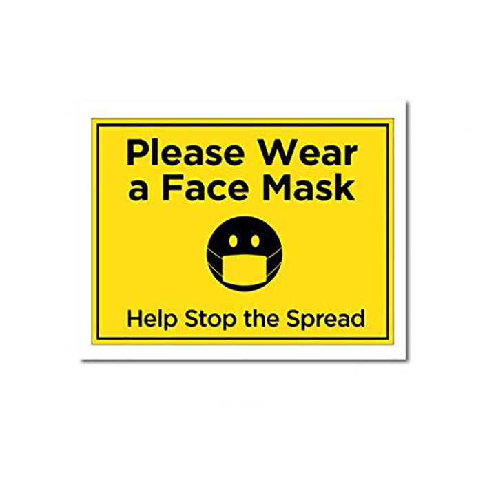 stop the spread safety first - sign yellow wall stickers