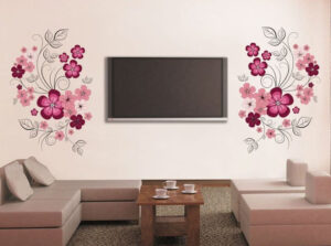 tv wall stickers