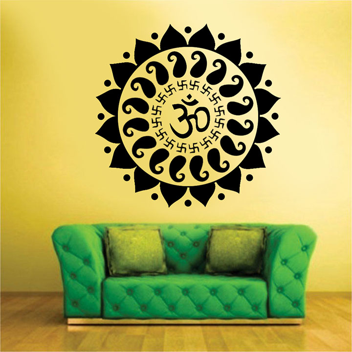the mystic om' wall stickers