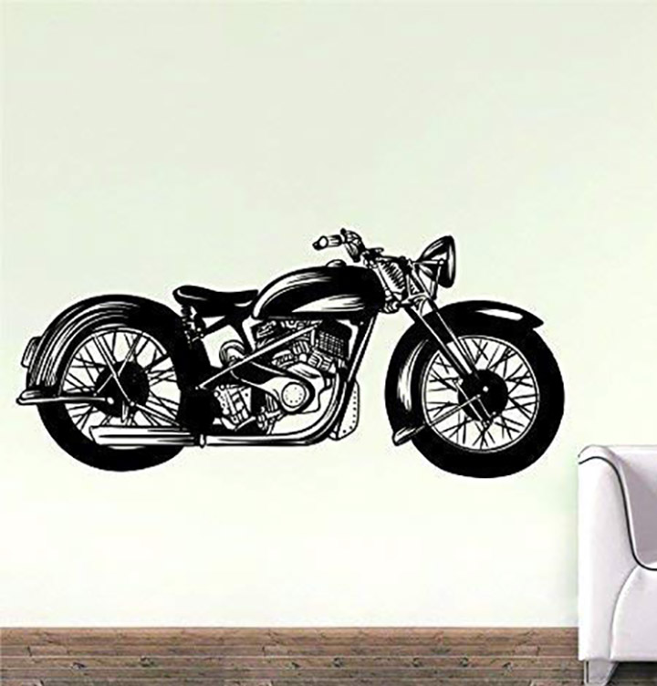 wall attraction bullet bike decal wall stickers