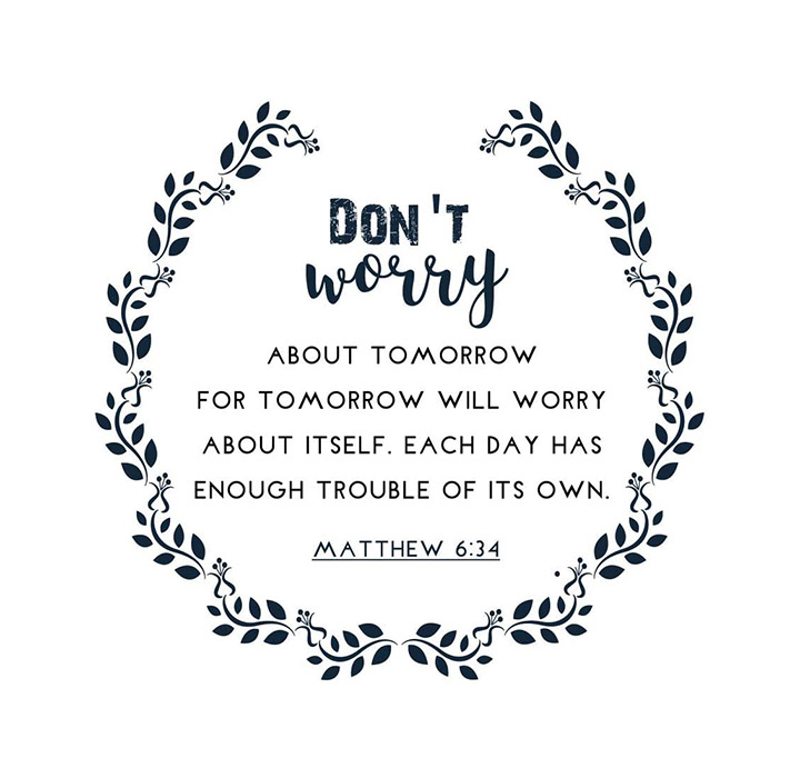 don't worry christian wall Sticker
