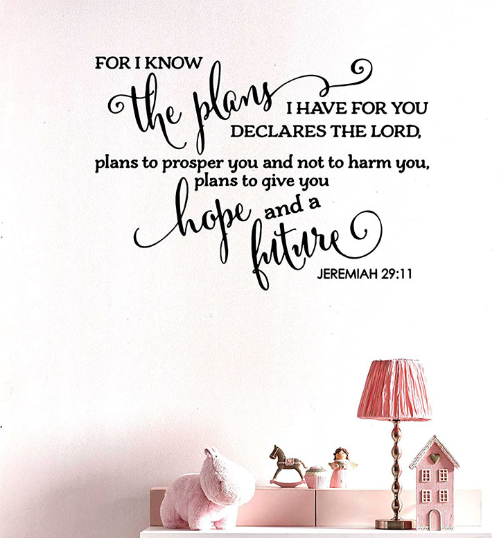 for i know the plans i have for you christian wall sticker