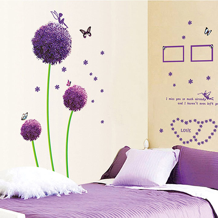 love family tree wall sticker with photo frames