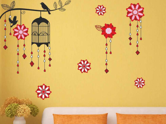 wall stickers for yellow wall