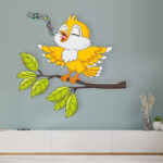 yellow wall stickers