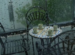 how to cover balcony from rain